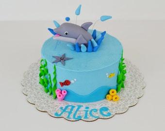 Dolphin cake topper Etsy