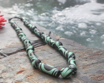 Polymer Clay Necklace, Parabola