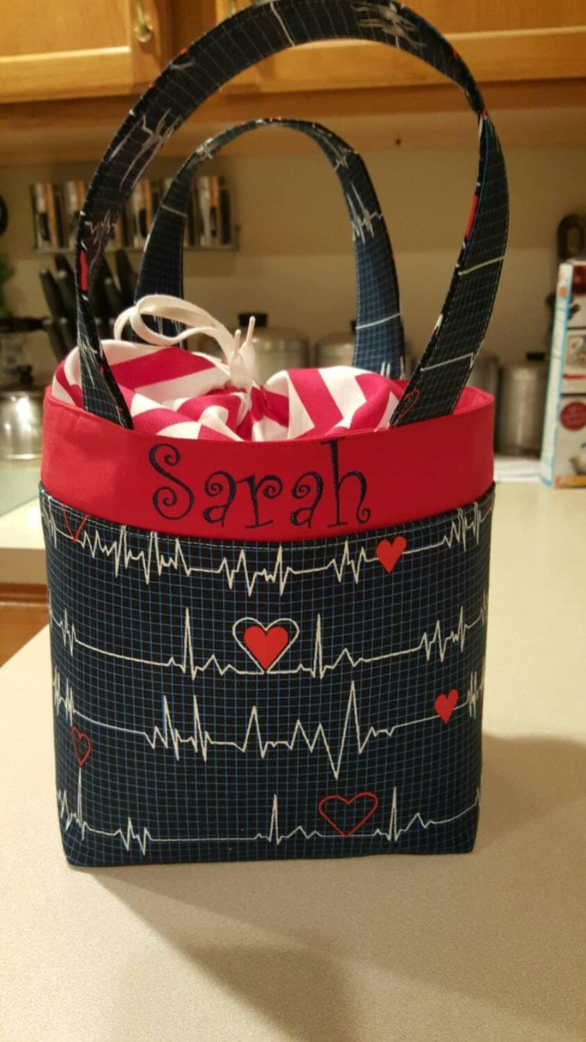 Personalized Nurse Lunch Bag With Drawstring By