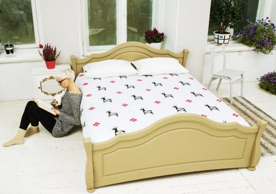 cerf literie toile double coton bio satin linge de lit. Black Bedroom Furniture Sets. Home Design Ideas