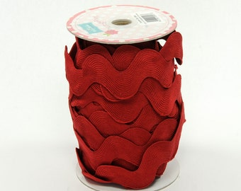 Jumbo Ric Rac- Crimson (5 Yard Bundle) Riley Blake Designs