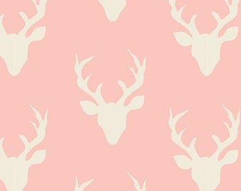 SALE!! 1 Yard- Hello, Bear by Art Gallery Fabrics- Buck Forest Pink 4434-4