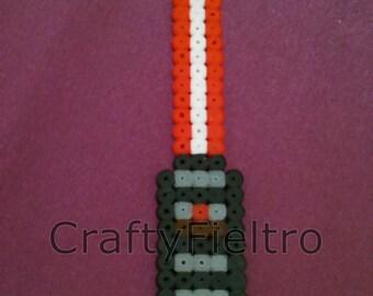 Red Light Saber Bookmark, Star Wars Bookmark, Hama Beads Bookmark.