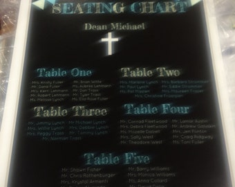 Personalized seating chart for your special occasion.