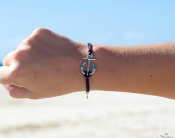 Anchor Charm Bracelet - Multiple Colours