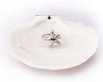 Starfish Ring Silver Colour