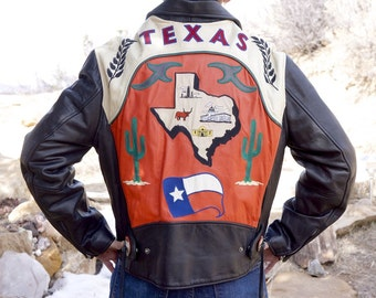 Avirex Vintage Leather Motorcycle Texas Jacket