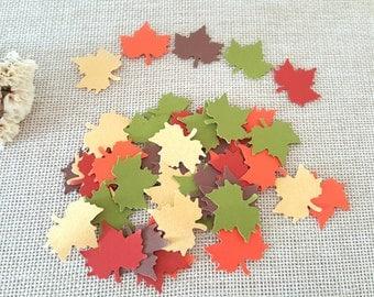 200pc Leaf confetti, Maple leaf confetti, Fall decoration, scarpbooking leave, Leaf die cuts, Paper maple leaft