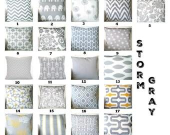 Gray Throw Pillow Covers, Grey White Cushions, Decorative Throw Pillows, Chevron Nursery Decor, Geometric One or More Mix & Match All Sizes