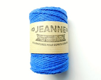 """1 x 50 m rope reel """"Bakers twine"""" royal blue, 2-wire, 2 mm"""
