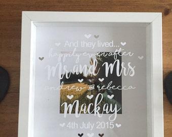 Mr & Mrs Wedding/Anniversary Photo Frame