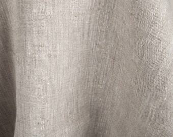 100% linen fabric / pure linen fabric/ Pure linen fabric in light grey colour by the half-metres