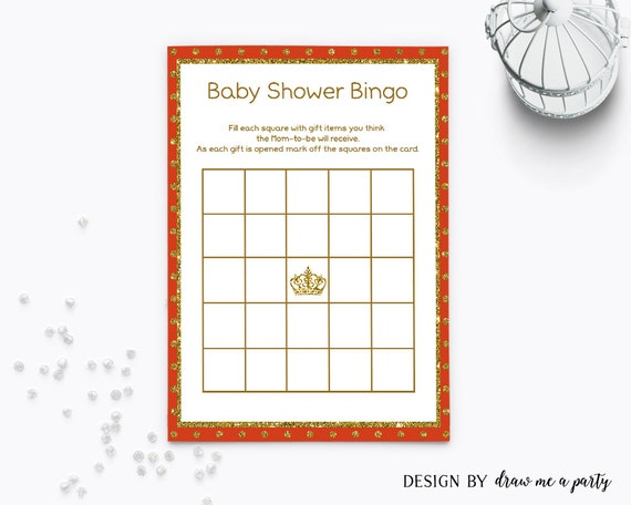 red and gold baby shower bingo red baby shower bingo cards red