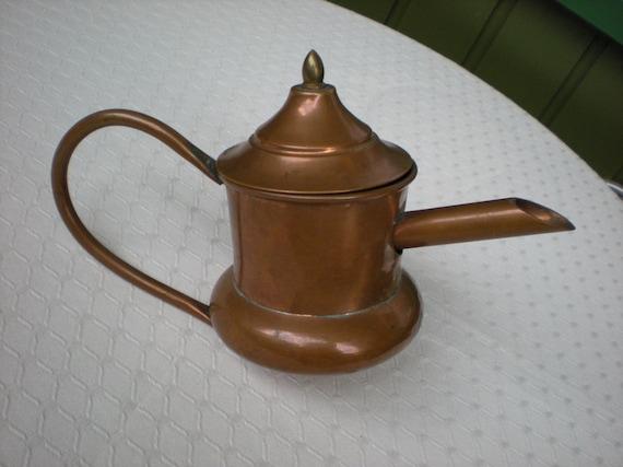 Vintage copper pot kitchen decor