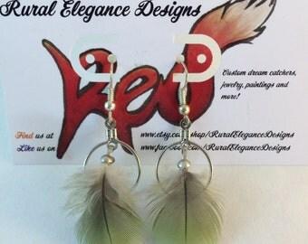Amazon parrot earrings