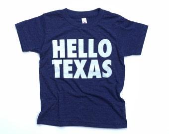 Hello Texas kids tee