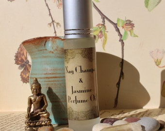 Nag champa and Jasmine  Roll on Perfume, Scented oil
