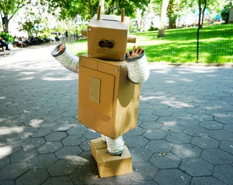 Build-your-own Cardboard Box Robot Costume - Instructions