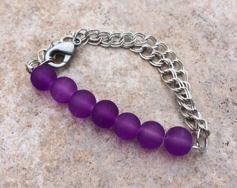 Adjustable Beaded Chainlet (Purple Frost)