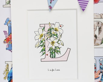 Alphabet Pictures - L : Personalised Prints
