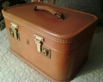 Vintage Leather Train Case Belber Luggage