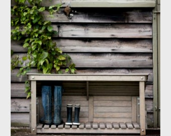Wooden Welly Boot Store. Great for your porch or patio. - WSWO01