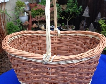 Hand Made Willow Shopping Basket