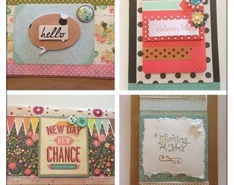 Happy life set of 4 greeting cards