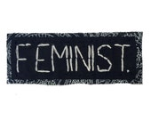 FEMINIST || feminist patches | feminism riot grrrl | feminism patch | jean jacket patch | vintage hats | strapback hat | monogram hat | 0323