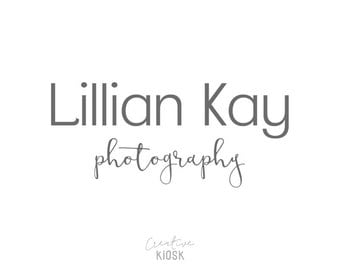 Signature Logo Design. Photography Branding. Calligraphy Font. Instant Download. Photography Watermark. Editable PSD File. #0355.