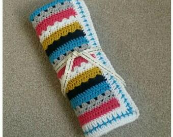 Beautiful Crochet Baby Blanket - Ready to Post