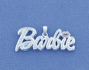 Silver Personalized Nicki Minaj Barbie Name Pendant Necklace SD61