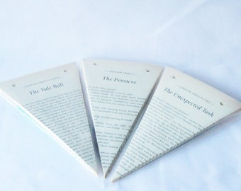 Bunting made from Harry Potter Books