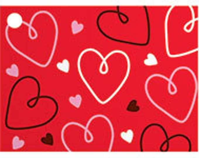 Valentines Blank Note Card, Hearts Blank Note Card, Note Card for Gifts, Doodle Hearts Blank Note Card, Pretty Hearts