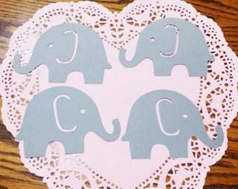 """Elephant Die Cuts Embellishments Confetti: Grey Kraft Cardstock (4.38"""" x 3.0"""")"""