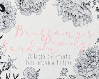 Brittany's Peony Garden Graphic Set