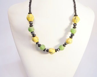 Green molten glass Necklace
