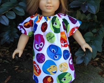 Clothes for 18 inch doll  Disney inside out peasant dress