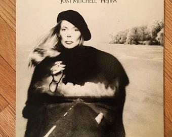 1976 Joni Mitchell 'Hejira' vintage vinyl record in very good condition