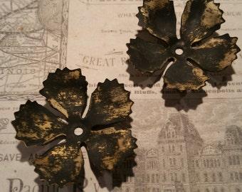 Blackened brass floursh flourishes 6 pc
