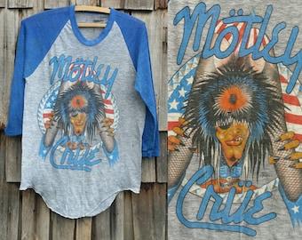 Motley Crue shirt | Vintage Motley Crue shirt | 80s Motley Crue shirt | Tour shirt