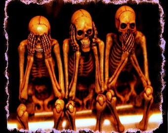 5 X 7 See No Evil Hear No Evil Say No Evil print