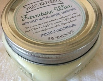 100% Natural Finishing / Furniture Wax. Eco-friendly, natural, and SAFE! 4 oz & 8 oz sizes.