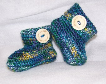 Hand Crocheted Baby Booties / Boots