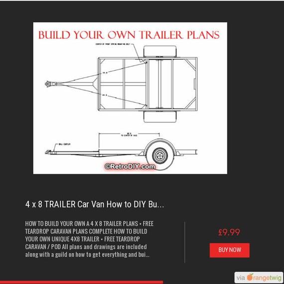 4 x 8 trailer car van how to diy build plans free teardrop for How to build a trailer plans free