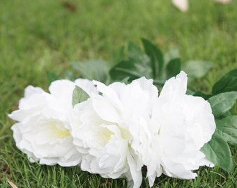 Teepee topper-white peony crown