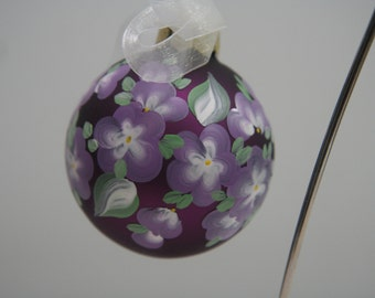 Hand Painted Glass Ornament