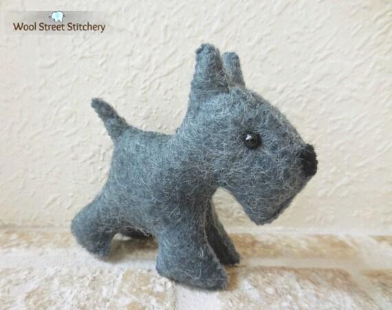 Black Scottie Dog Soft Toy