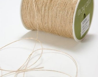 Natural 1mm Jute Craft Twine *Sold Per 10mtr*