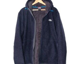 North Face denim blue fleece